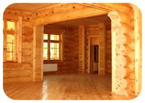 внутренние стены деревянного дома